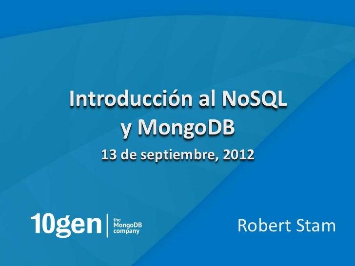 Introducción a NoSQL y MongoDB Webinar