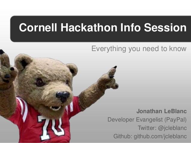 Cornell University Hackathon