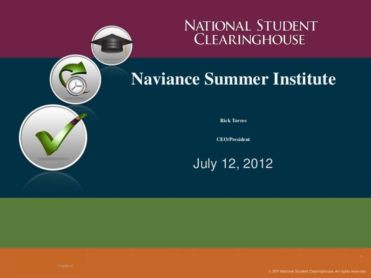NSI 2012: National Student Clearinghouse
