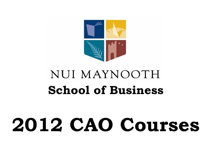 School of Business 2012 CAO Courses