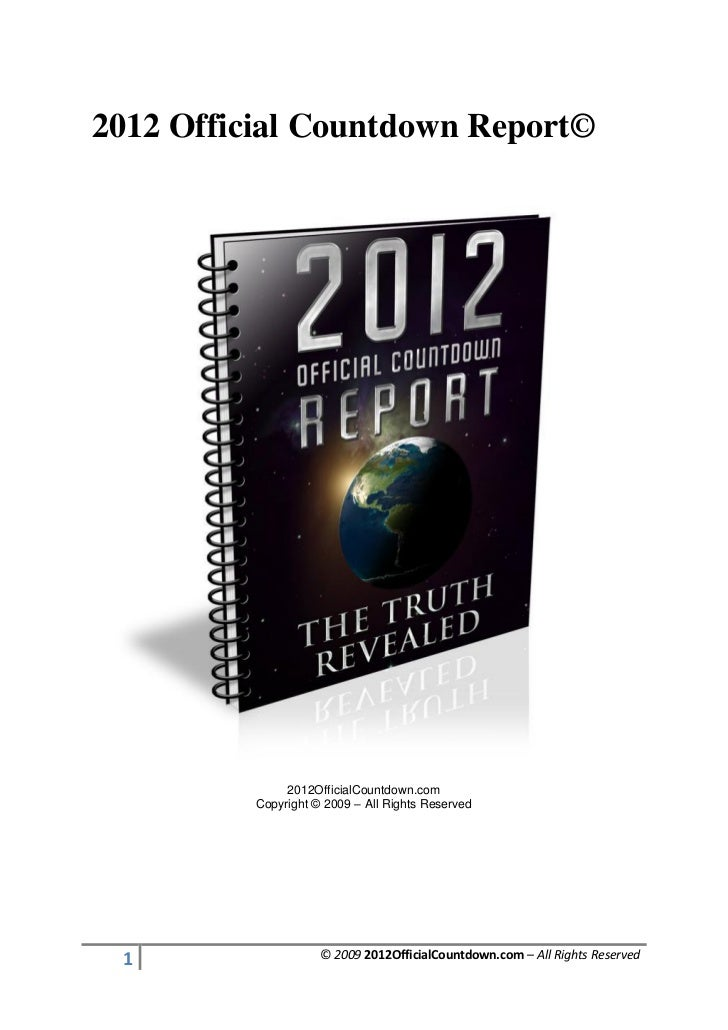 2012 Official Countdown Report©               2012OfficialCountdown.com          Copyright © 2009 – All Rights Reserved 1 ...