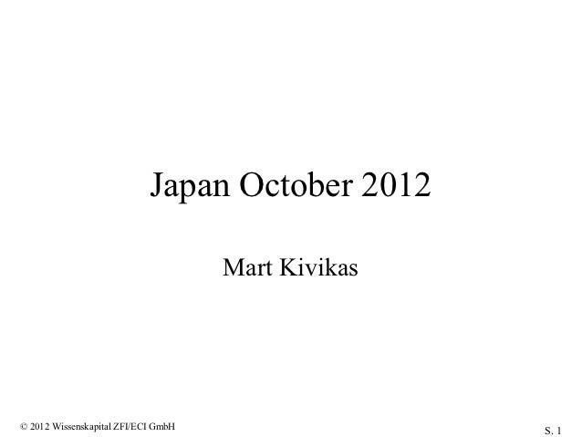 Workshop Tokyo October 2012