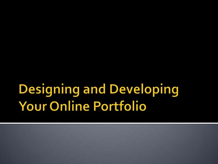 2012 online portfolio