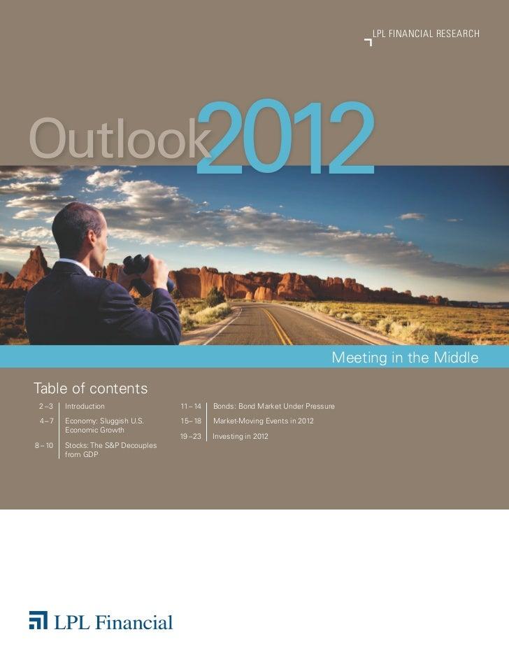 LPL FinanciaL ReseaRchOutlook                                 2012                                                        ...