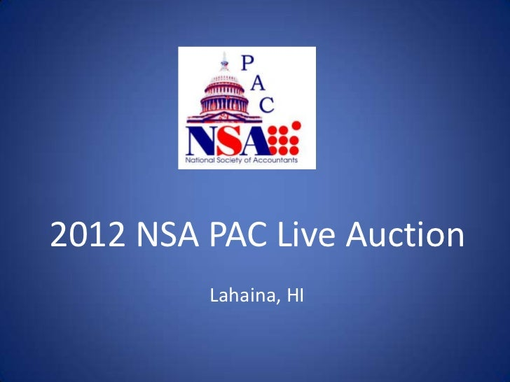 2012 NSA PAC Live Auction