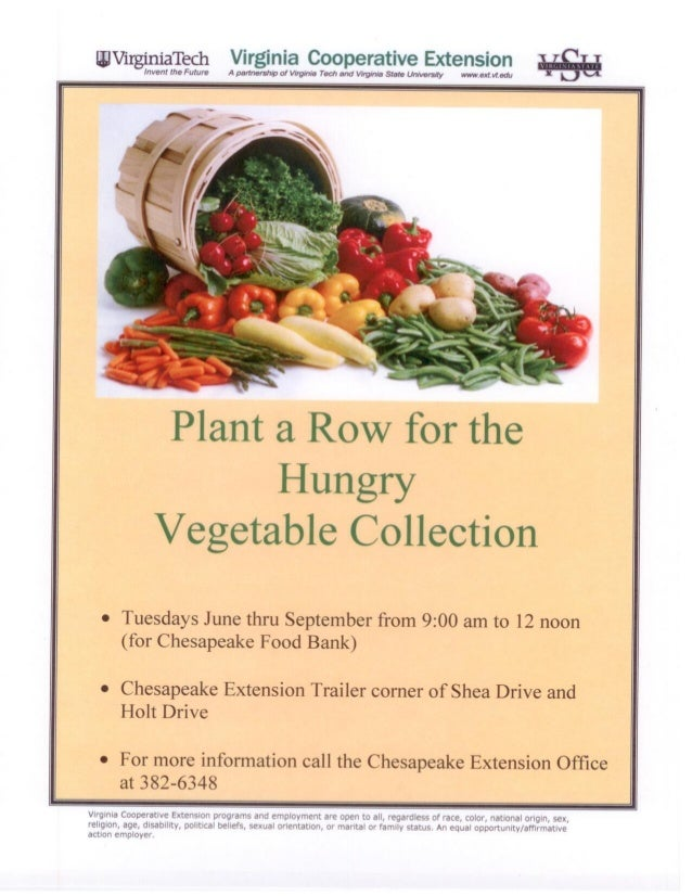 Plant a Row for the Hungry - Virginia State University