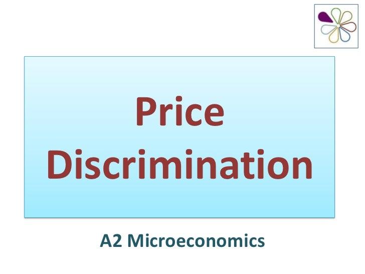 PriceDiscrimination  A2 Microeconomics