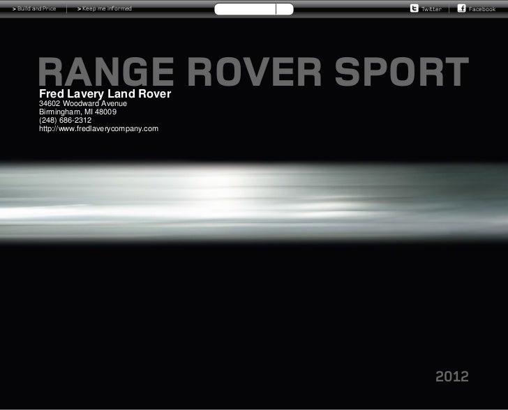 2012 Range Rover Sport For Sale MI   Land Rover Dealer Near Detroit