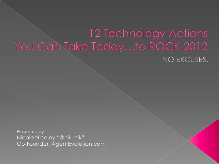 "Presented byNicole Nicolay ""@nik_nik""Co-Founder, AgentEvolution.com"