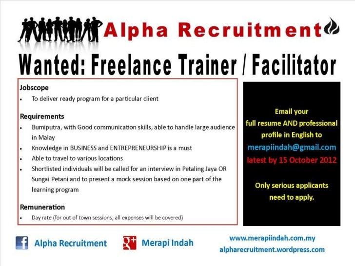 2012 recruitment freelance