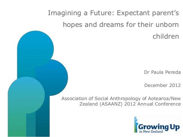 Imagining a Future: Expectant parent's hopes and dreams for their unborn children  Dr Paula Pereda December 2012 Associati...