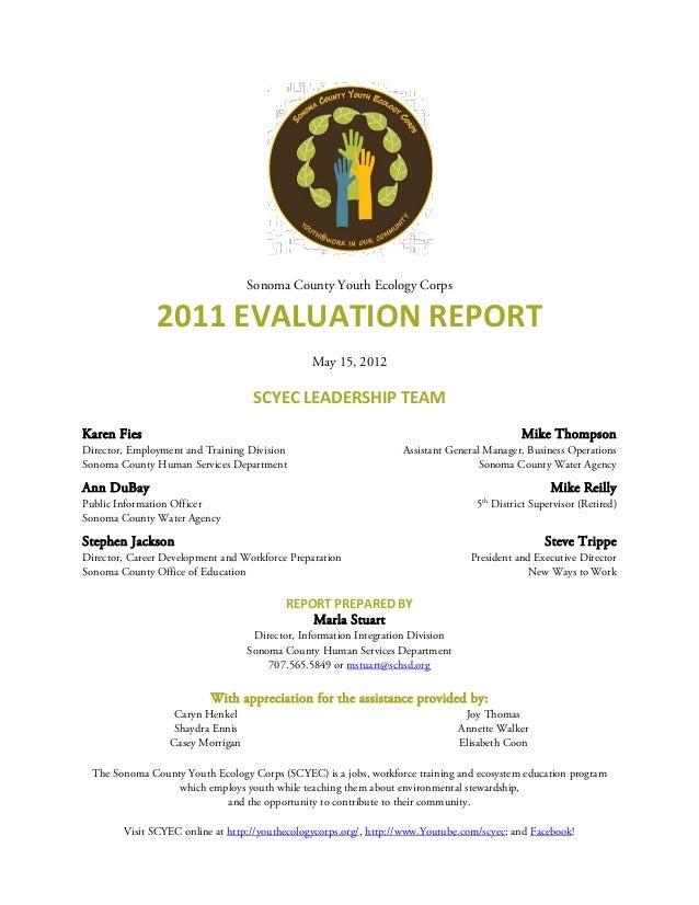 SCYEC 2011 Evaluation Report (2012)