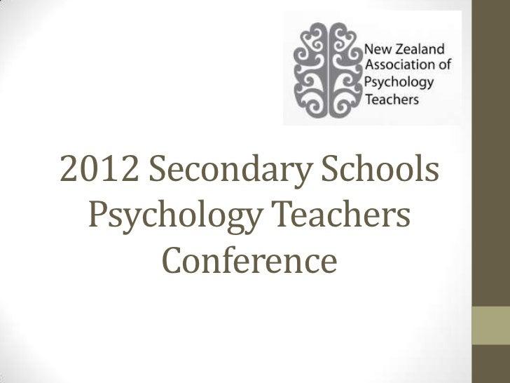 2012 secondary schools psychology teachers conference