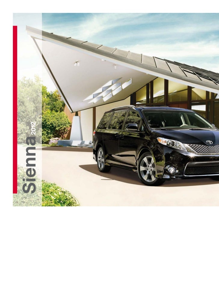 2012 Toyota Sienna Brochure in Tampa Florida Dealer