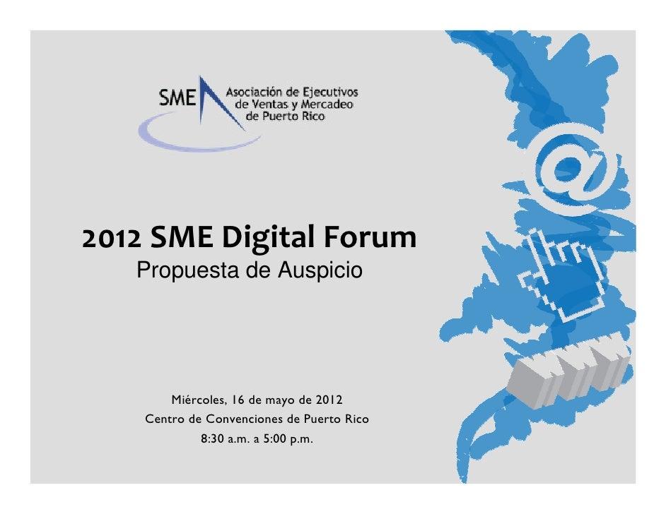 2012 SME digital forum   propuesta