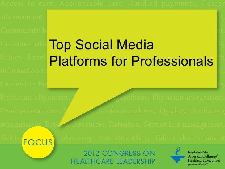 Top Social MediaPlatforms for Professionals