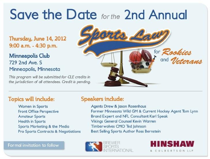 2012 Hinshaw & Culbertson Sports Law Seminar