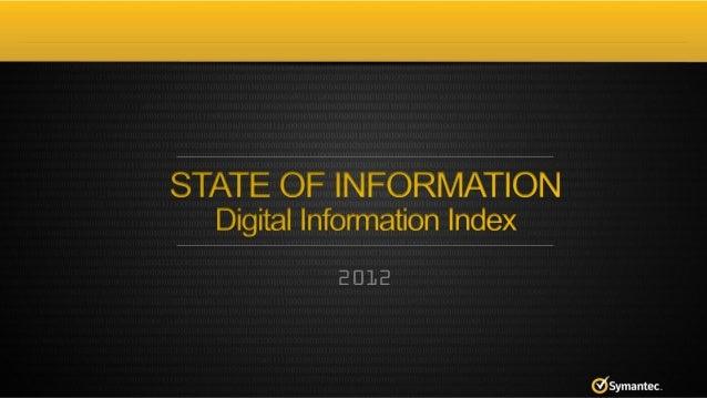 2012 State of Information Digital Information Index Information Sprawl Chapter 3 November 2012