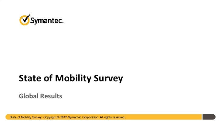 2012 State of Mobile Survey Global Key Findings