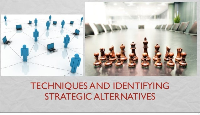 TECHNIQUES AND IDENTIFYING STRATEGIC ALTERNATIVES 1