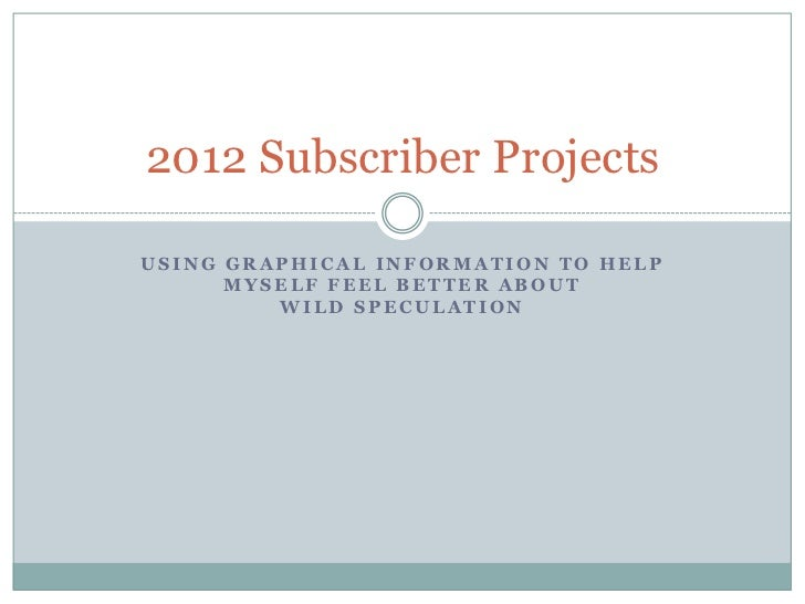 2012 subscriber projections