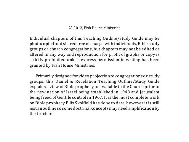 © 2012, Fish House MinistriesIndividual chapters of this Teaching Outline/Study Guide may bephotocopied and shared free of...