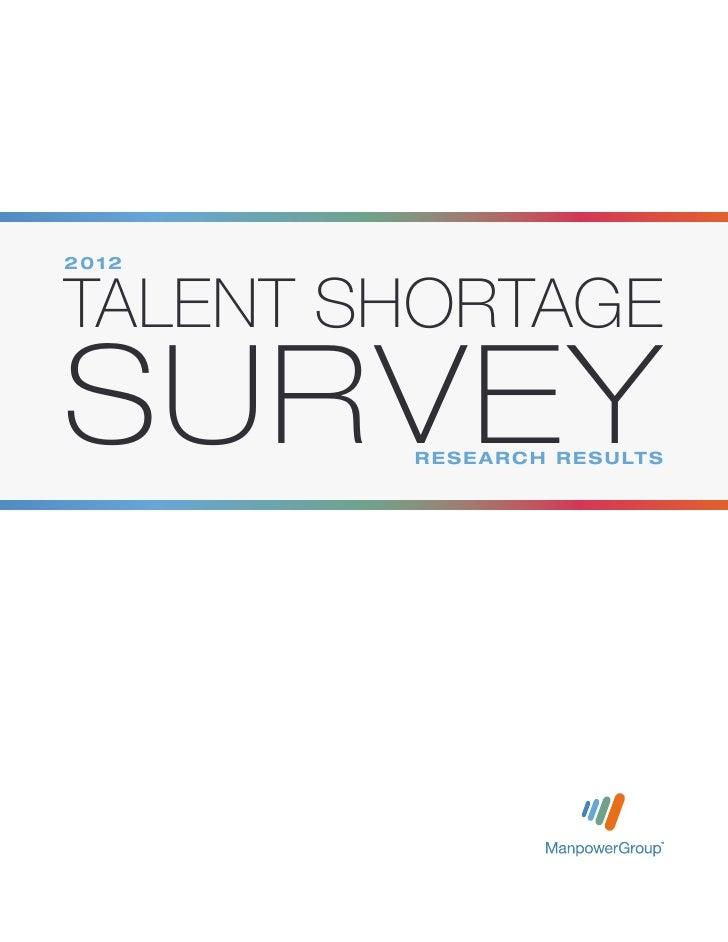 2012 Talent Shortage Survey