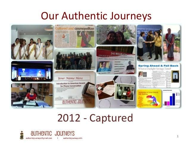 2012 the Authentic Journeys