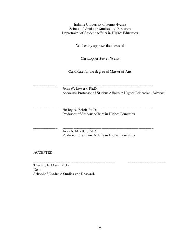 Ed coomes masters thesis