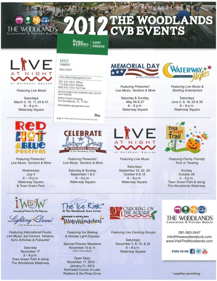 2012 the woodlands events