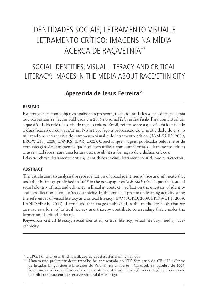 Identidades sociais, letramento visual e letramento crítico ...      Identidades Sociais, Letramento Visual e        Letra...