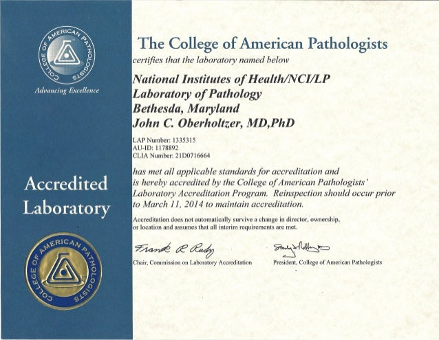 2012 to 2014 cap accreditation certificate