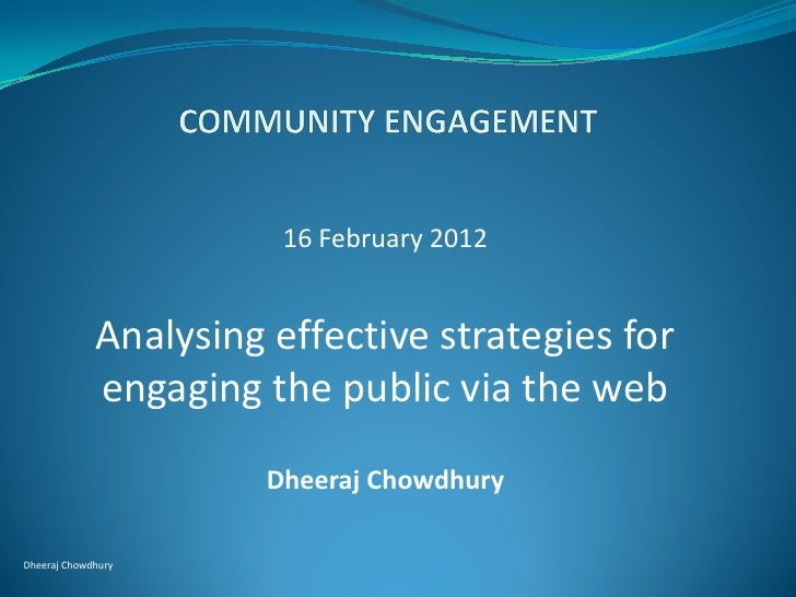 16 February 2012             Analysing effective strategies for             engaging the public via the web               ...