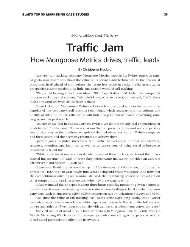 Marketing Case Studies | Marketing Management Case Studies | Case