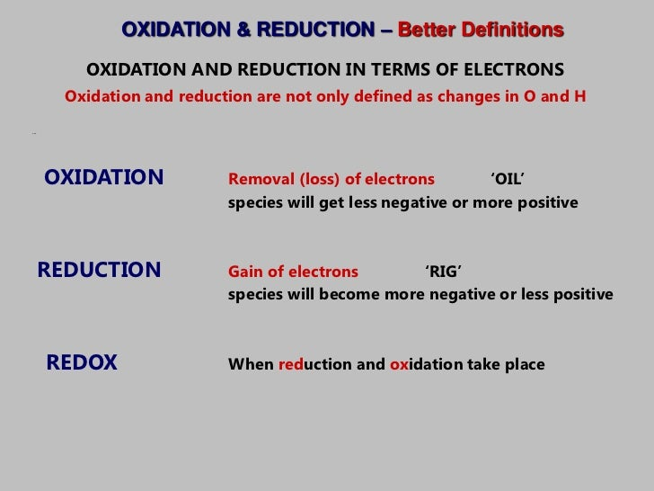 topic 9 oxidation and reduction Ibdp sl & hl chemistry‎ ‎ dp chemistry topic 9 oxidation & reduction topic 10 organic chemistry.