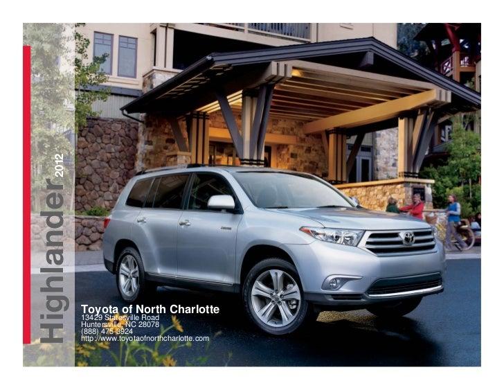 2012 toyota highlander for sale nc toyota dealer serving charlotte. Black Bedroom Furniture Sets. Home Design Ideas