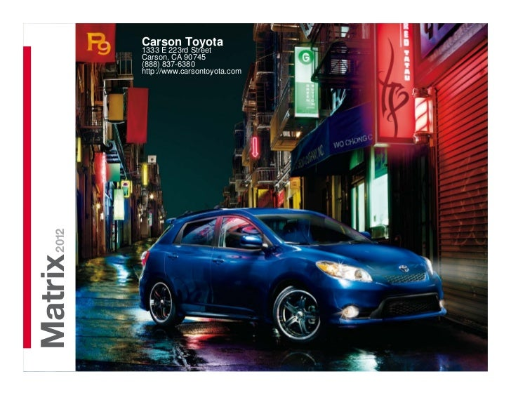 2012 Toyota Matrix For Sale CA | Toyota Dealer Near Los Angeles County