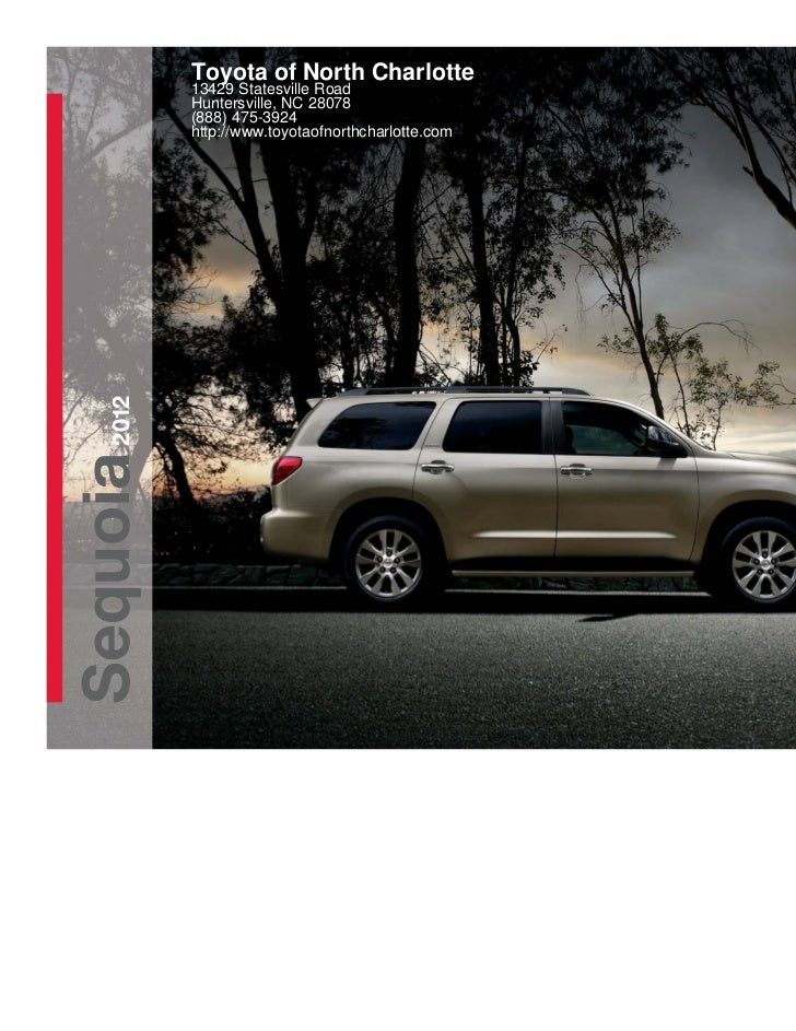2012 Toyota Sequoia For Sale Nc Toyota Dealer Serving
