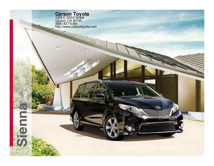 2012 Toyota Sienna For Sale CA | Toyota Dealer Near Los Angeles County