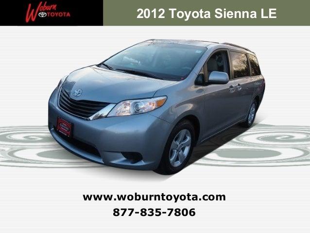 Boston - Used 2012 Toyota Sienna LE