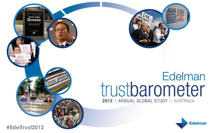 I AUSTRALIA      #EdelTrust2012© Edelman, 2012. All Rights Reserved.