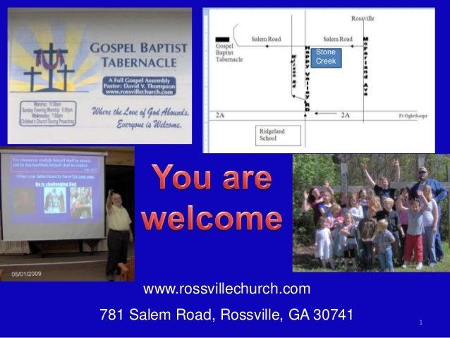 www.rossvillechurch.com 781 Salem Road, Rossville, GA 30741 1 Stone Creek