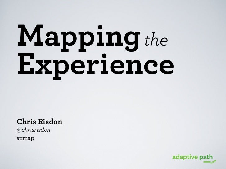 Mapping the Experience