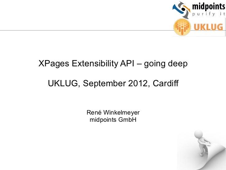 XPages Extensibility API – going deep  UKLUG, September 2012, Cardiff           René Winkelmeyer            midpoints GmbH
