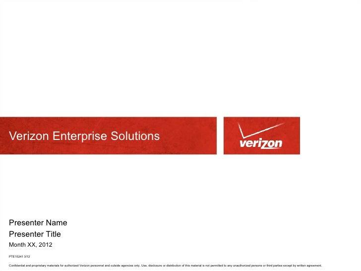Verizon Enterprise Solutions Overview