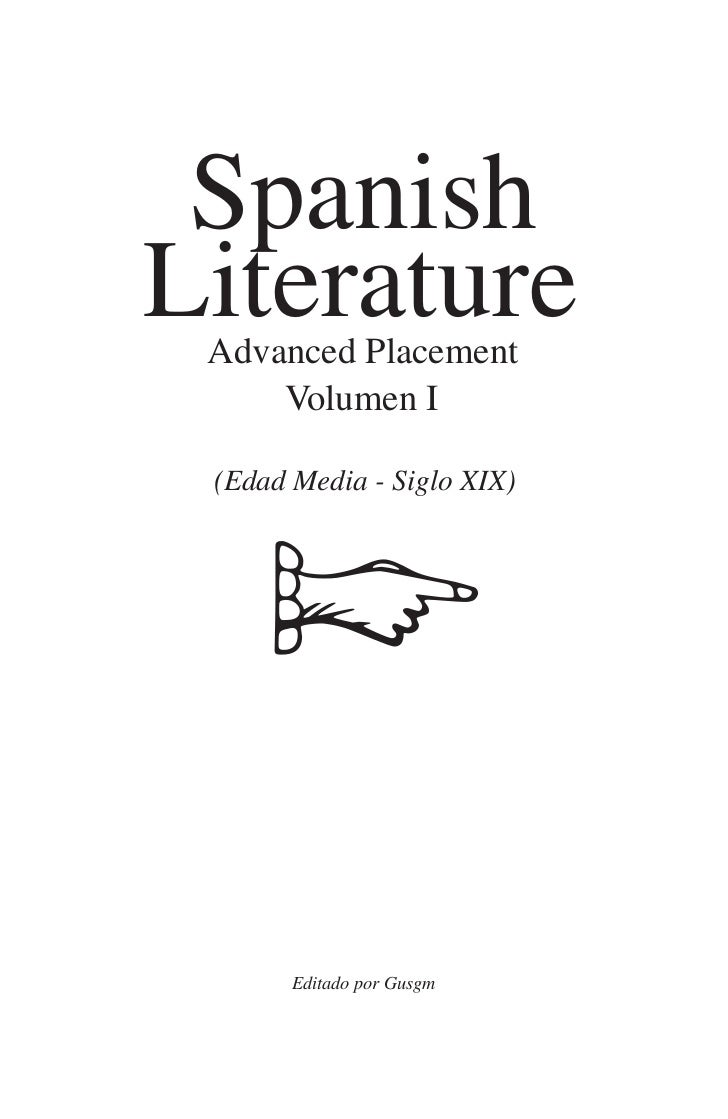 Spanish Literature Advanced Placement (AP) Texts for the