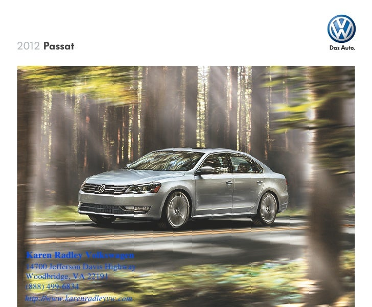 2012 Volkswagen Passat for Sale VA | Volkswagen Dealer serving Springfield