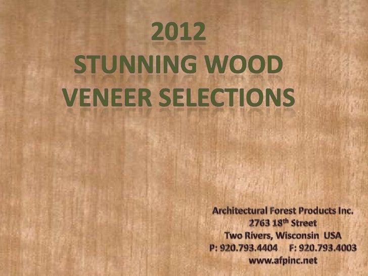 2012 Wood Veneer