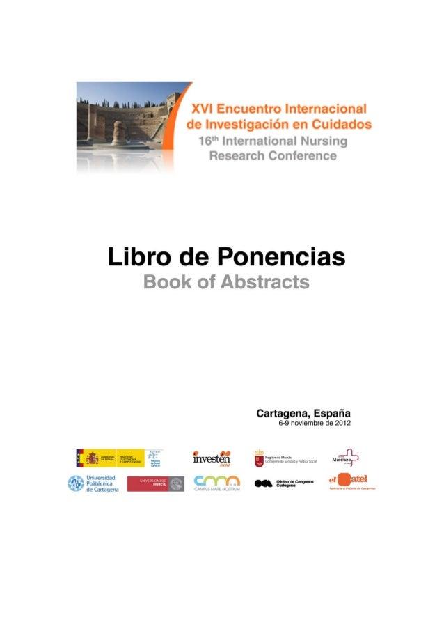 Libro de ponencias XVI Encuentro (Murcia 2012)