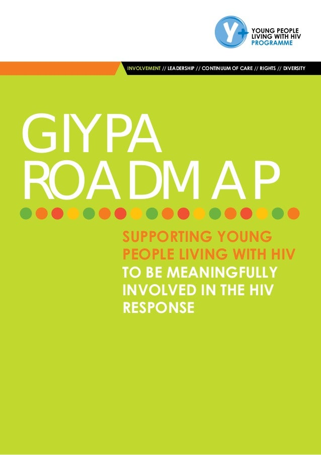 INVOLVEMENT // LEADERSHIP // CONTINUUM OF CARE // RIGHTS // DIVERSITY ROADMAP SUPPORTING YOUNG PEOPLE LIVING WITH HIV TO B...